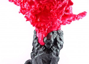 liquid carbon lion 3d abs print art oliver ende