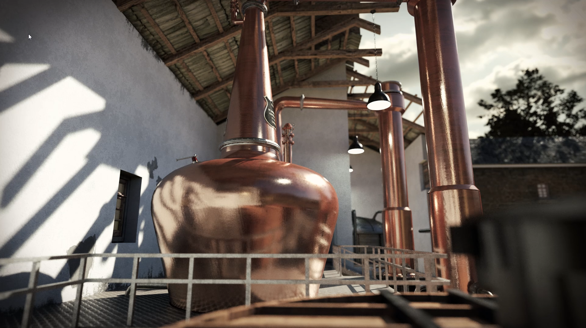Wash Still 3D model Whisky animation